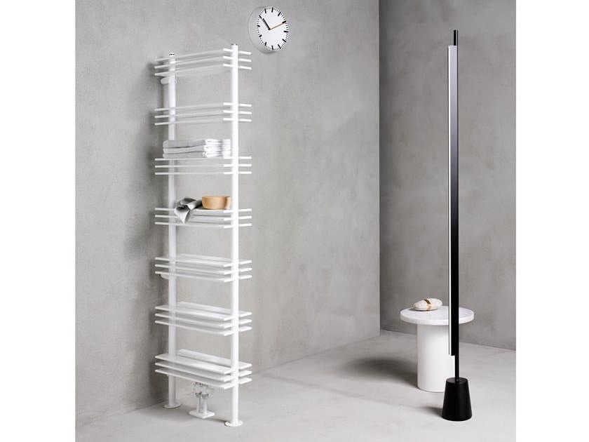 Carbon steel decorative radiator SHELF 70 by Caleido