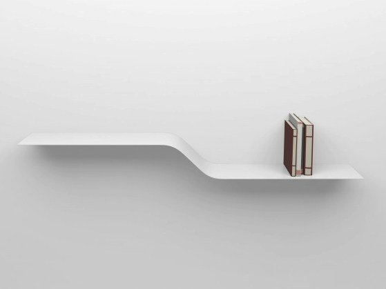 Powder coated aluminium wall shelf SHELF C by VIDAME CREATION