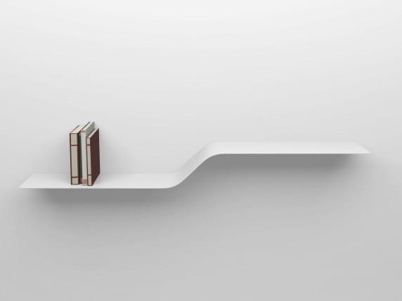 Powder coated aluminium wall shelf SHELF D by VIDAME CREATION