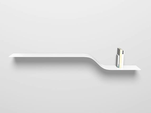 Powder coated aluminium wall shelf SHELF E by VIDAME CREATION