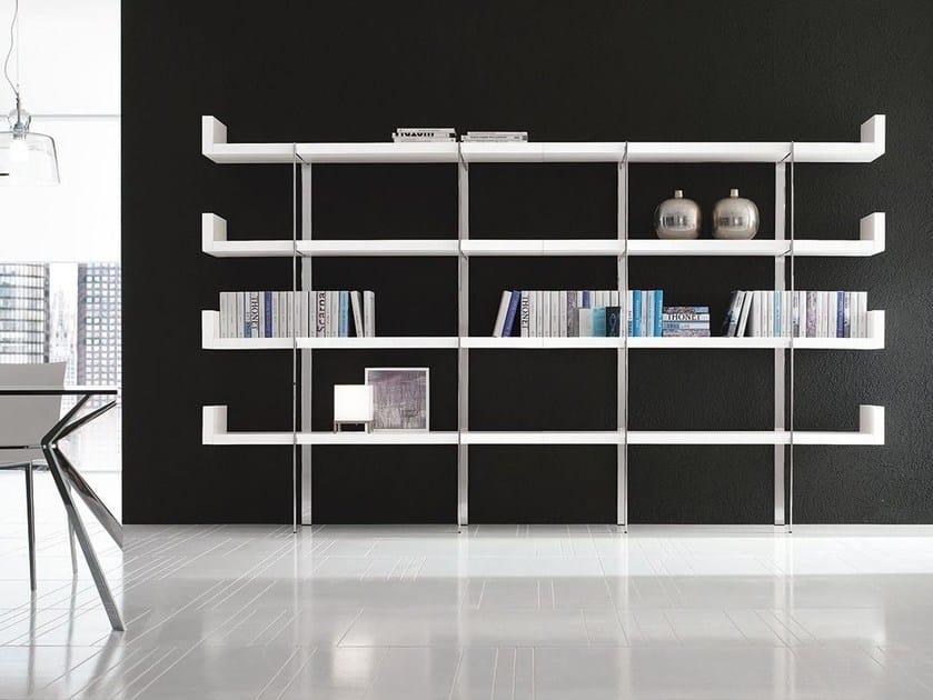 Sectional steel bookcase SHELF-SERVICE by ALIVAR