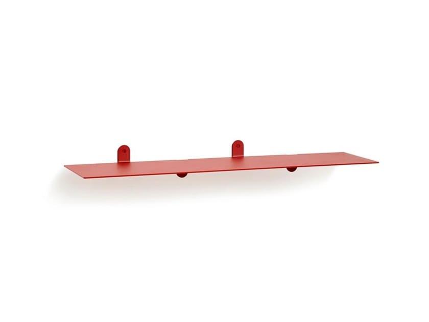 Powder coated steel wall shelf Shelf n°2 by Valerie_Objects