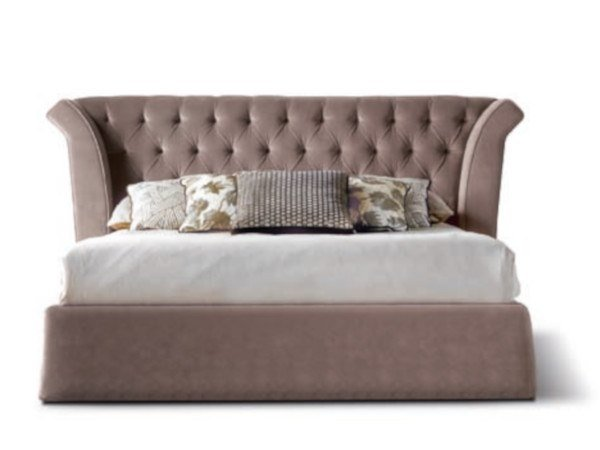 Bed with tufted headboard SHELL - 840101 | Double bed by Grilli