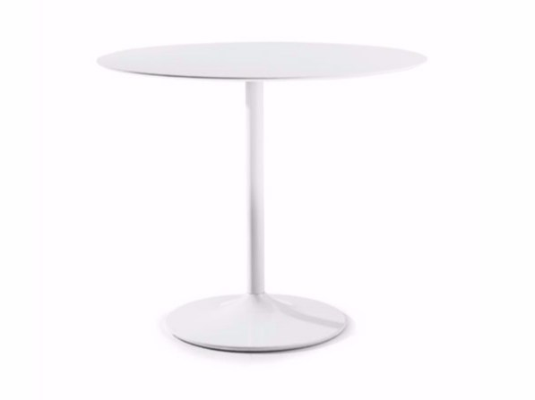 Contemporary style round steel contract table SHELL-IN by Varaschin