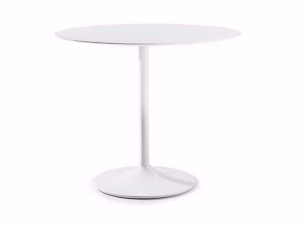Tavolo rotondo in acciaio in stile moderno per contract SHELL-IN by Varaschin