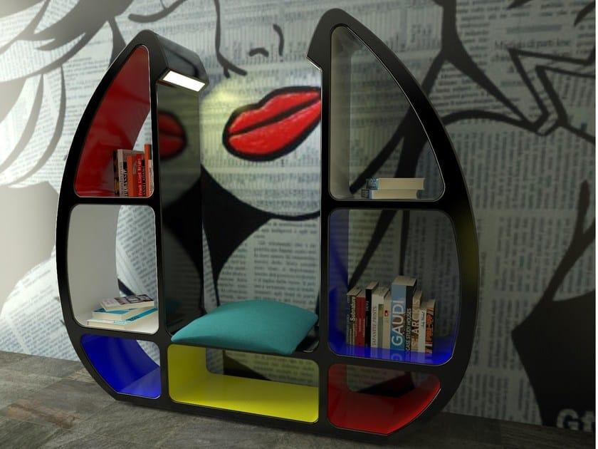 Libreria in Adamantx® con illuminazione SHELLEY by ZAD ITALY