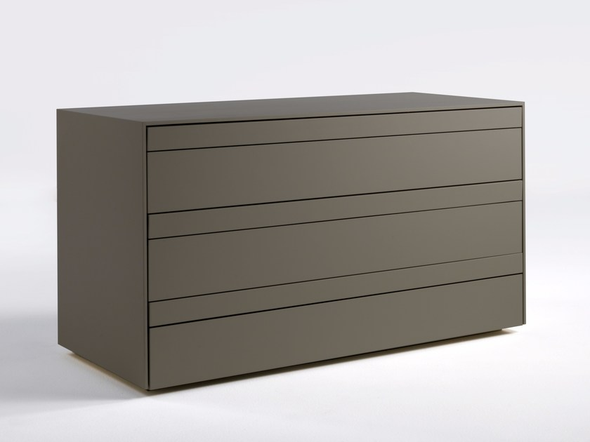 Lacquered wooden chest of drawers SHEN | Chest of drawers by Lema