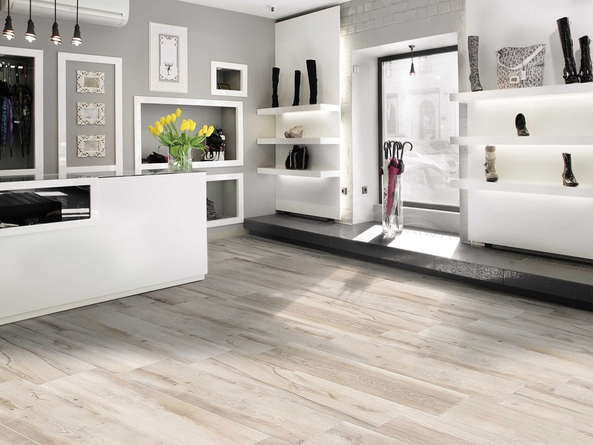 Porcelain stoneware flooring with wood effect SHERWOOD by CERAMICHE BRENNERO
