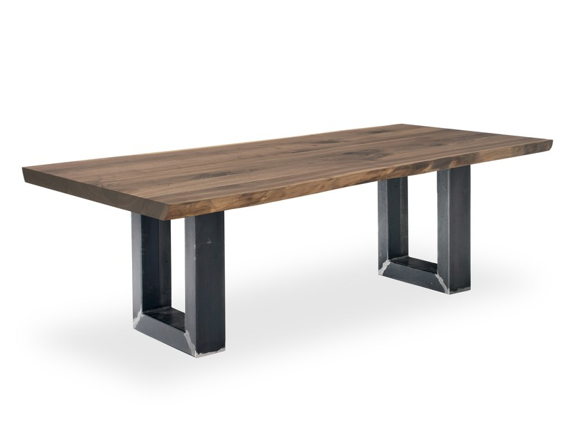 Rectangular solid wood table SHERWOOD EXTRA NATURAL SIDES by Riva 1920