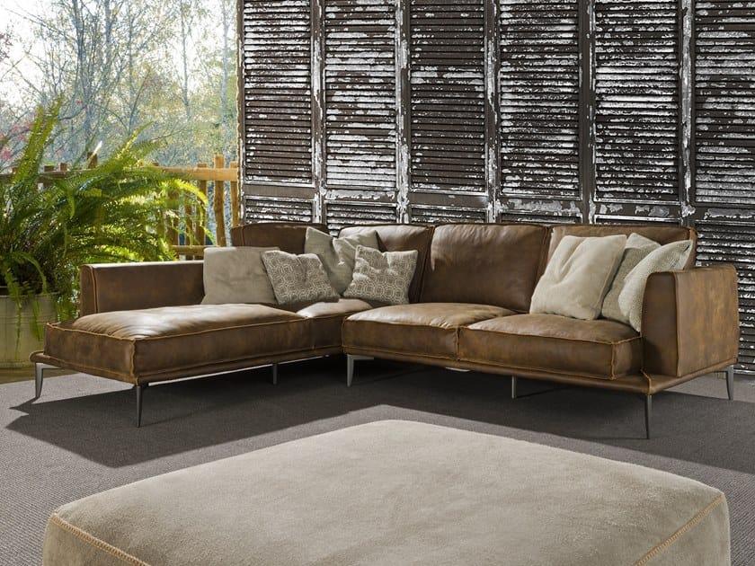 Poltrone E Sofa Divani Angolari In Pelle.Sherwood Taglio Vivo Corner Sofa By Flexstyle
