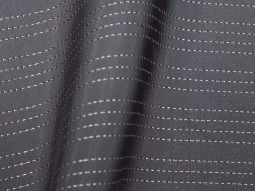 Striped synthetic fibre fabric for curtains SHIBUYA by Gancedo