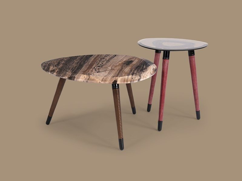 Low coffee table for living room SHIELD by Borzalino