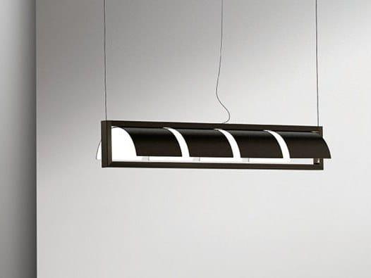 Lámpara colgante de metal con luz indirecta SHIELD | Lámpara colgante by Giorgetti