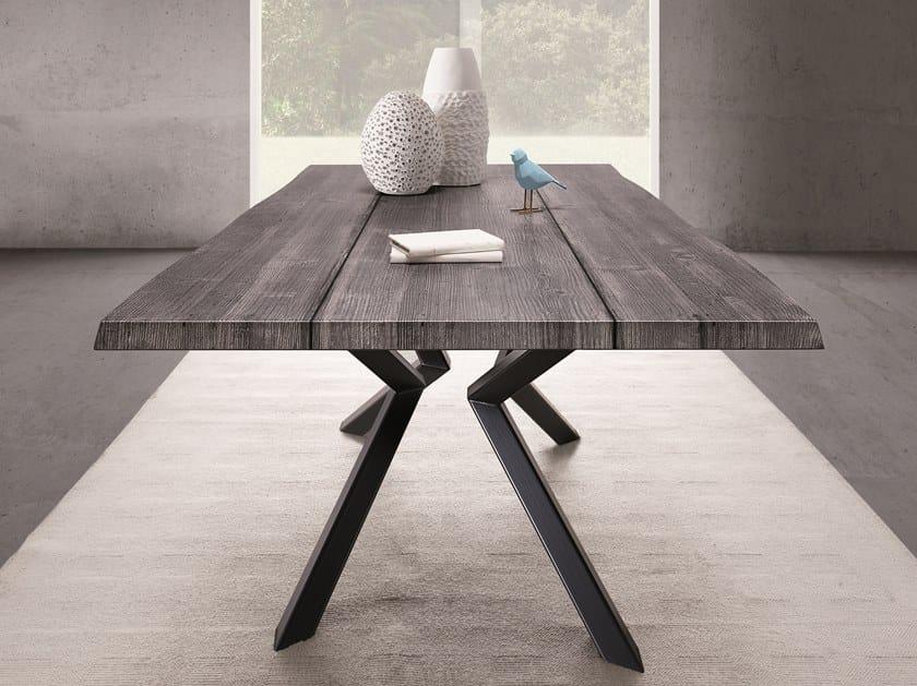 Rectangular spruce table SHIFT by Natisa