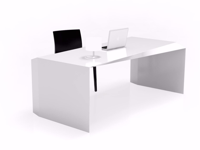 Lacquered rectangular Adamantx® office desk SHIFT by ZAD ITALY