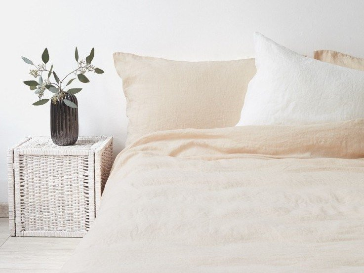 Washed linen Bed Set SHIFTING SAND | Bedding set by Linen Tales