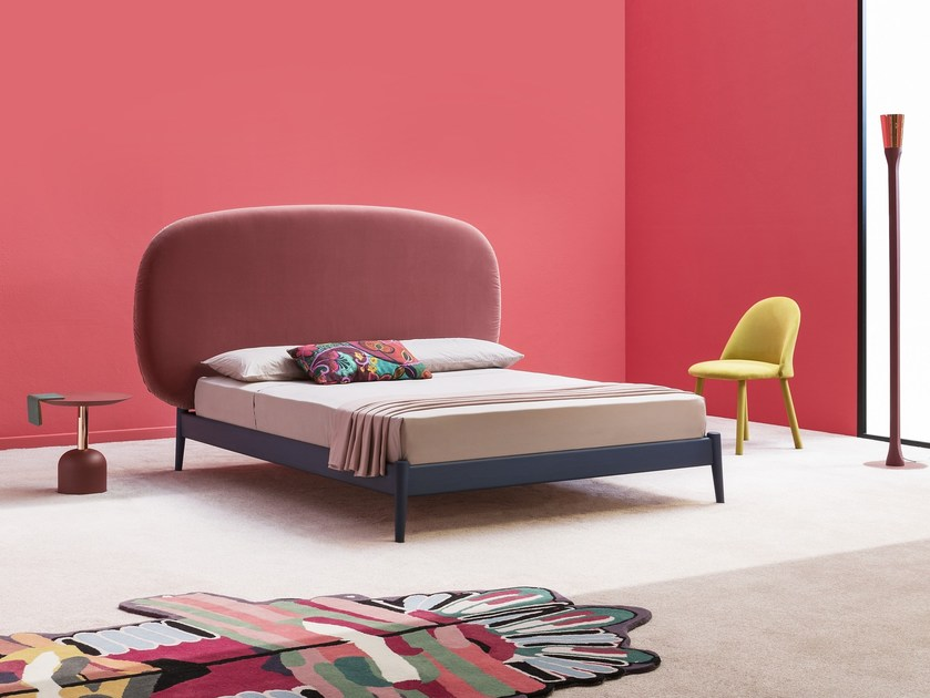 Double bed with upholstered headboard SHIKO MAGNUM by Miniforms