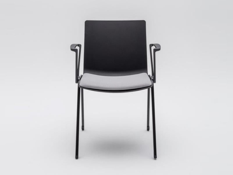 Plastic reception chair with integrated cushion SHILA | Chair with armrests by MDD