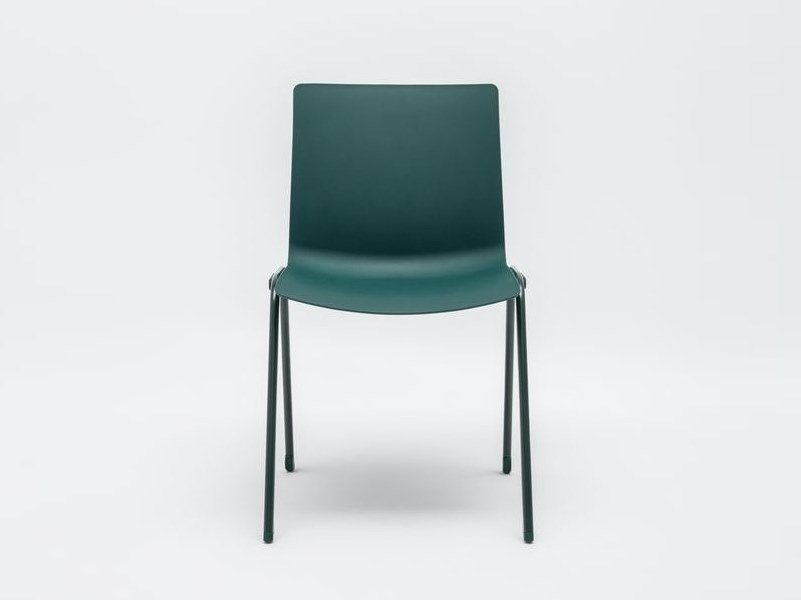 Stackable plastic reception chair SHILA | Reception chair by MDD