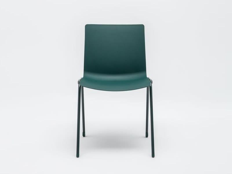 Cadeira empilhável de plástico para hotelaria SHILA | Cadeira para hotelaria by MDD