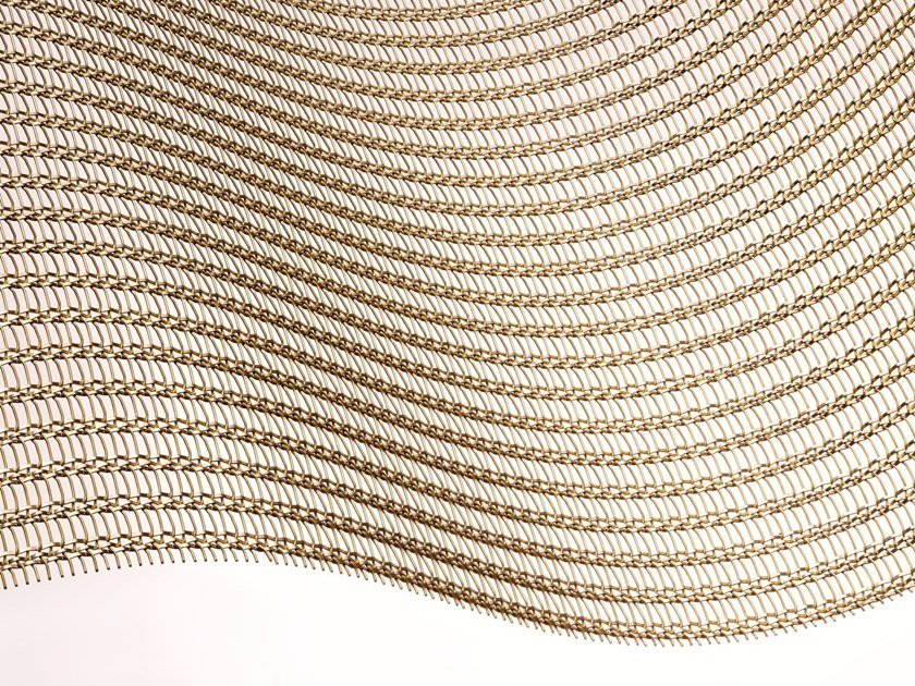 Brass Metal fabric and mesh SHINE GOLD by MeshArt™