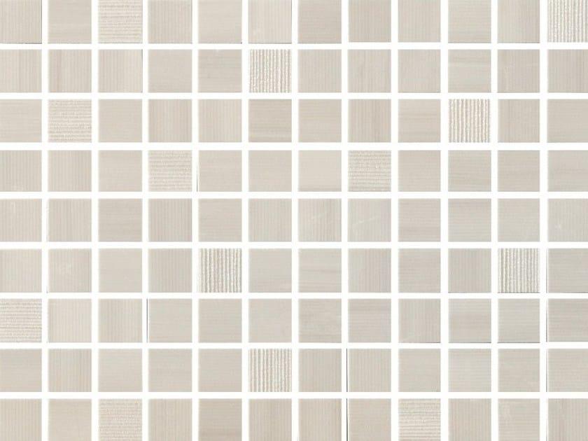 White-paste mosaic SHINE Quarzo by Impronta Ceramiche