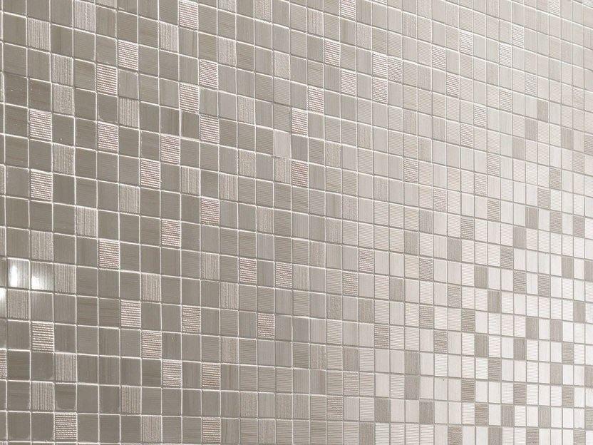 Mosaico in ceramica a pasta bianca shine tormalina impronta