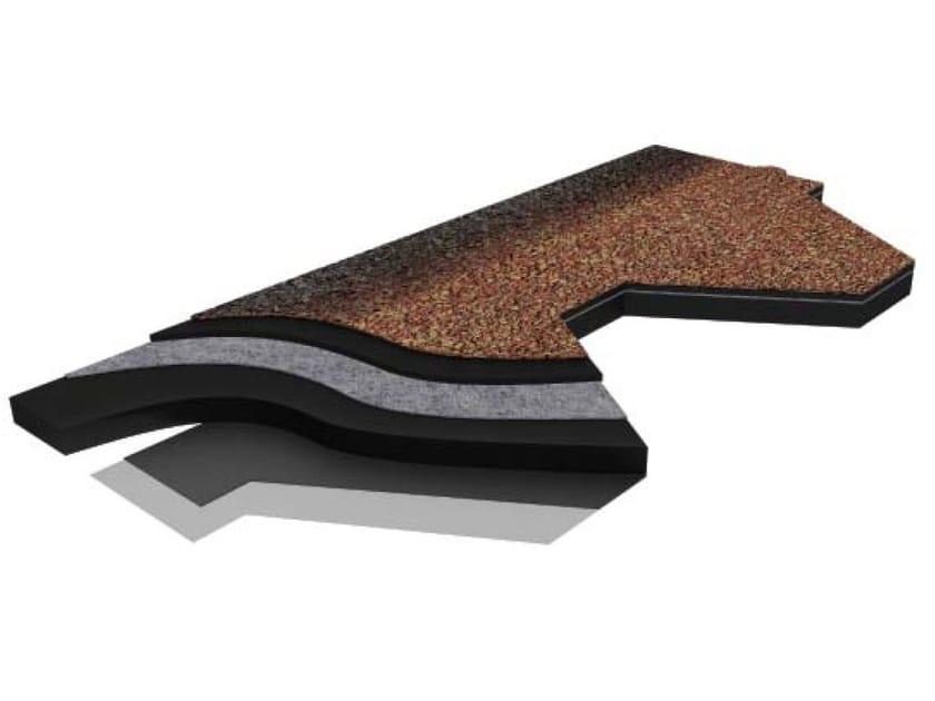 Bitumen roof shingle SHINGLAS by ITALIANA MEMBRANE