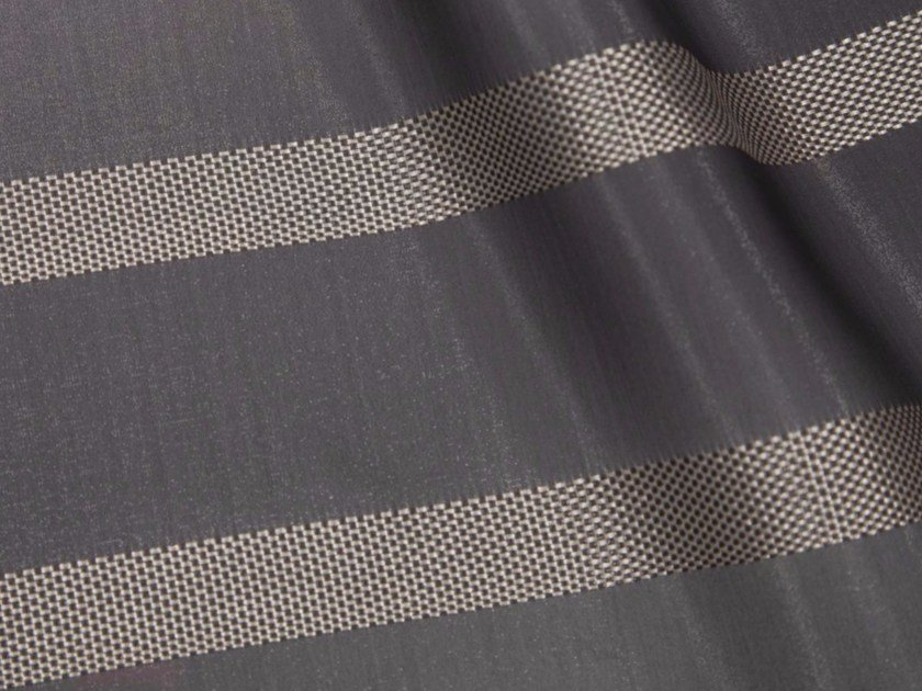 Striped synthetic fibre fabric for curtains SHINJUKU by Gancedo