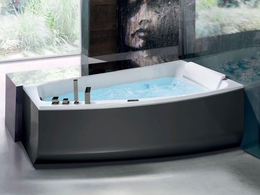 Asymmetrische Whirlpool Badewanne Aus Acryl SHIVA COLOR By Blu Bleu