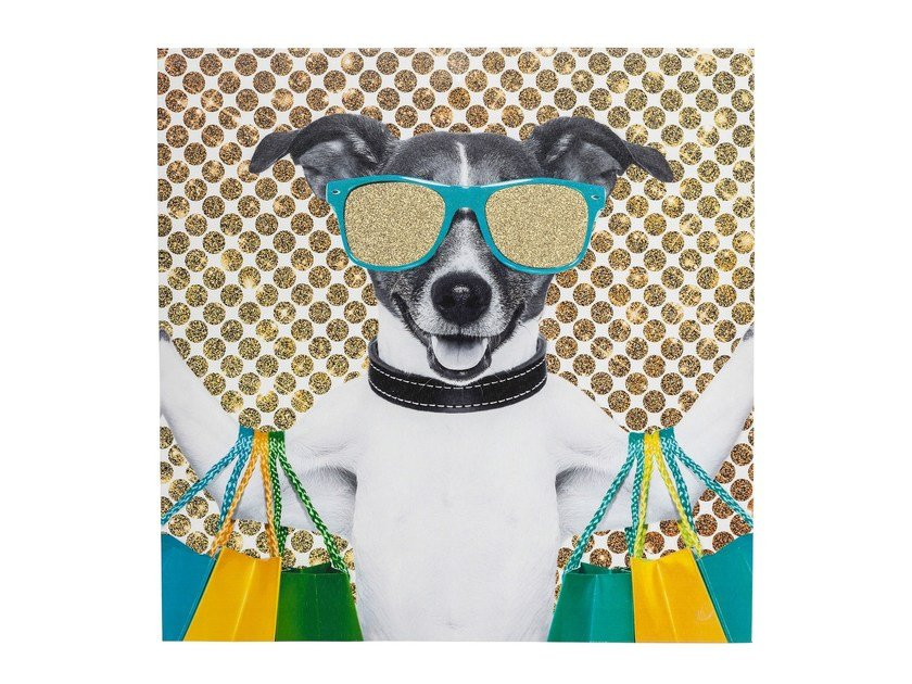 Stampa su tela in poliestere SHOPPING DOG by KARE-DESIGN