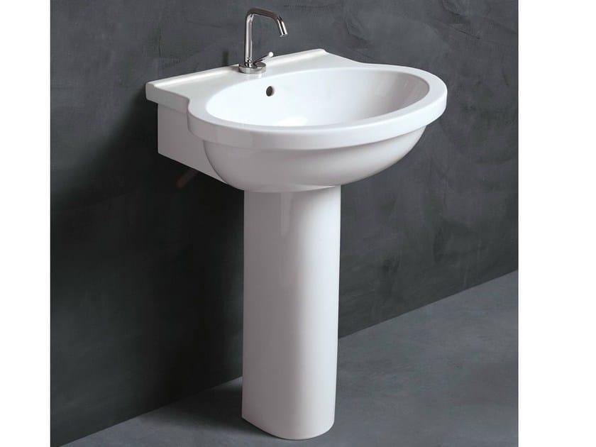 Pedestal ceramic washbasin SHORT 65 | Washbasin by Alice Ceramica