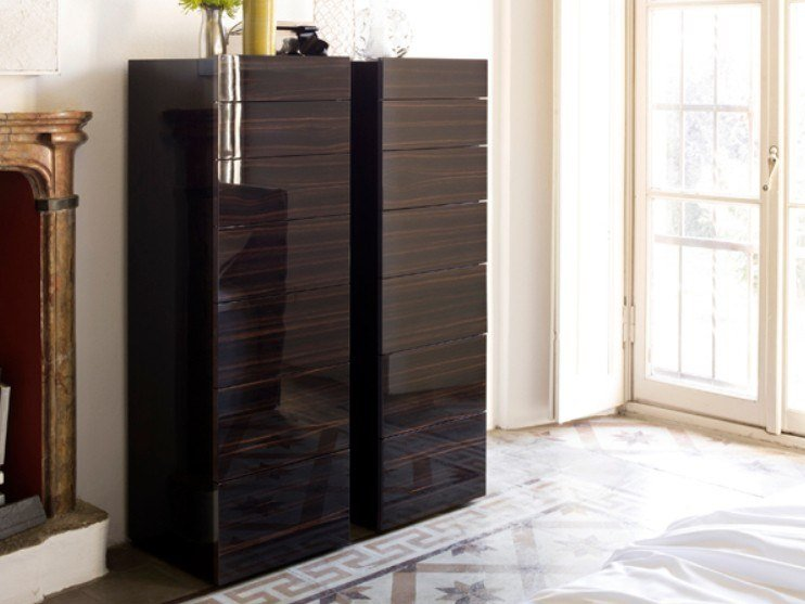 Lacquered chest of drawers SHOW | Ebony chest of drawers by Capo d'Opera