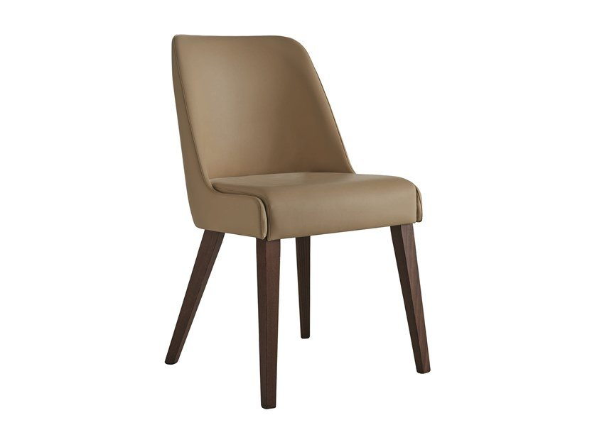 Upholstered imitation leather and fabric chair SHOW | Fabric chair by Sedex