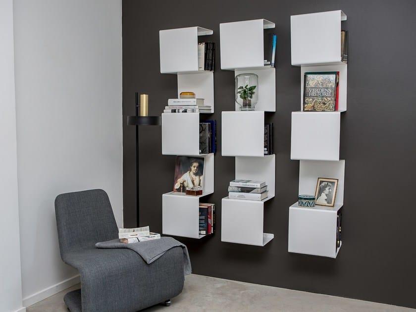 Wand Bücherregal Aus Pulverbeschichtetem Aluminium Showcase1 By