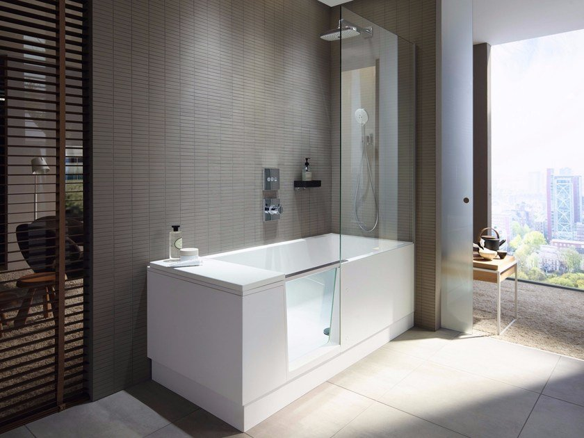 Bathtub with shower SHOWER + BATH By Duravit design EOOS