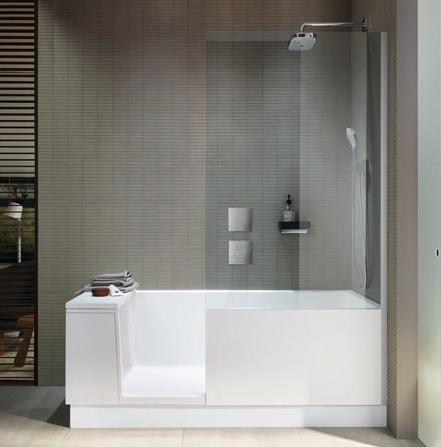Bathtub with shower SHOWER + BATH By Duravit design EOOS