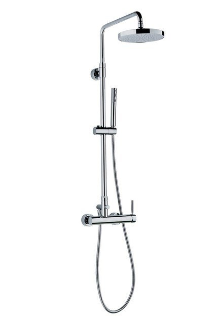Shower panel with diverter with hand shower with overhead shower SHOWER COLUMNS | Shower panel with hand shower by newform