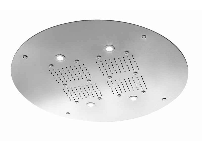 Chrome-plated rain shower for chromotherapy SHOWER PLUS | Overhead shower for chromotherapy by ZUCCHETTI