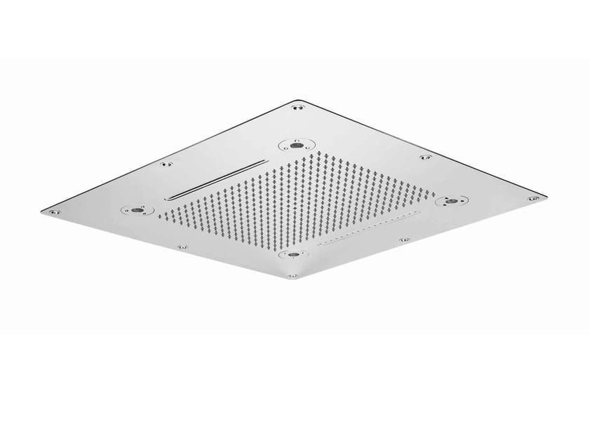 Chrome-plated stainless steel rain shower SHOWER PLUS | Overhead shower by ZUCCHETTI