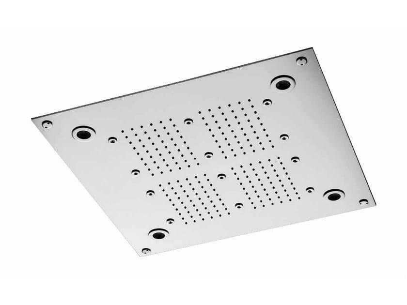 Chrome-plated stainless steel rain shower SHOWER PLUS | Stainless steel overhead shower by ZUCCHETTI