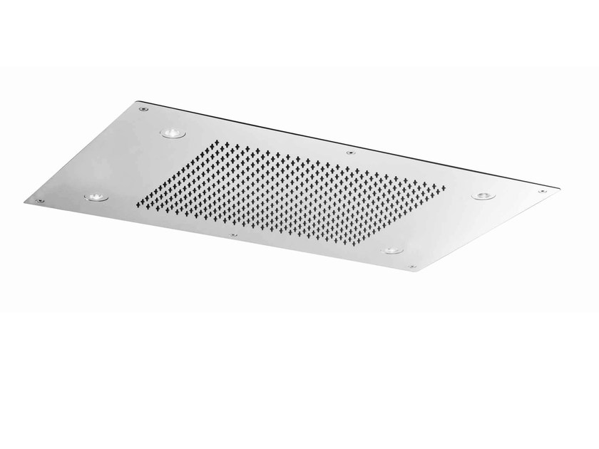 Ceiling mounted extra flat stainless steel overhead shower SHOWER PLUS | Extra flat overhead shower by ZUCCHETTI