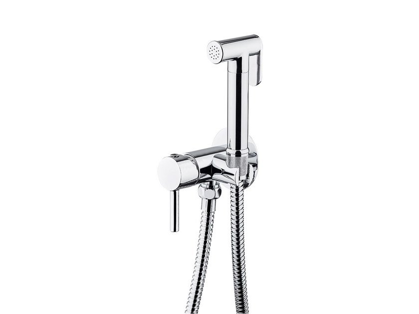 Wall-mounted single handle bidet mixer with spray SHOWER SET | Bidet mixer by newform