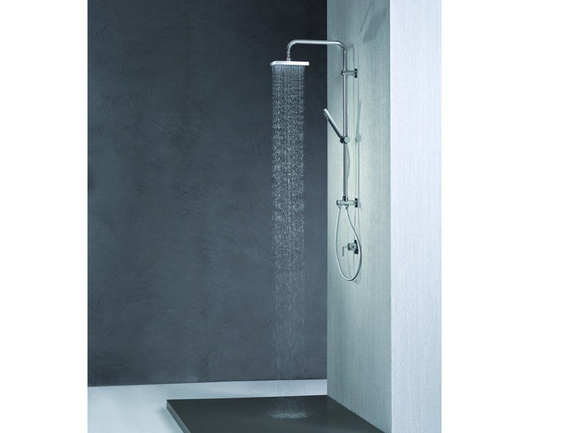Wall-mounted shower panel with diverter with hand shower SHOWER SET | Wall-mounted shower panel by newform