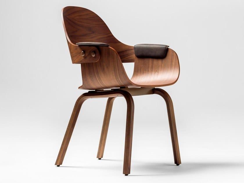 Cadeira de faia SHOWTIME NUDE by BD Barcelona Design