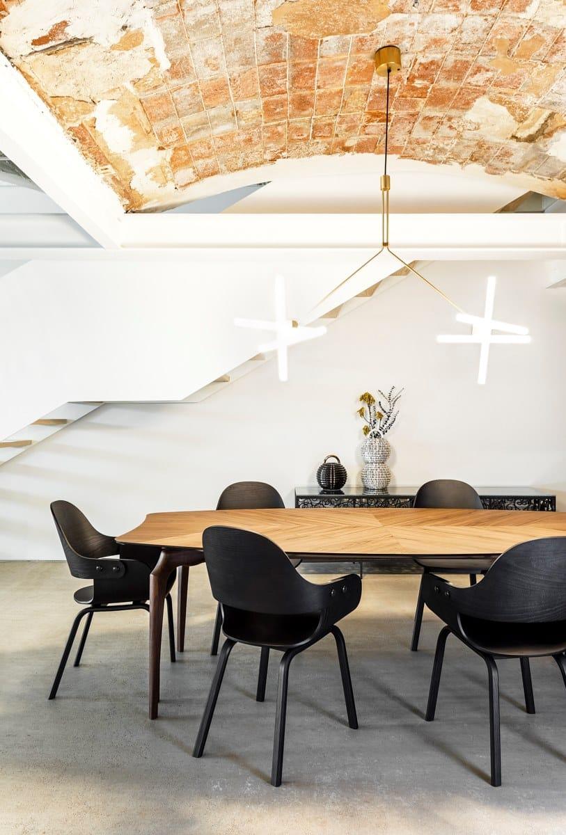 Sedia In Faggio Showtime Nude Bd Barcelona Design