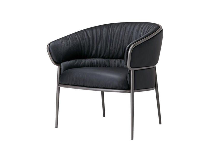 Cadeira lounge de pele com braços SHU-YING   Cadeira lounge de pele by SP01