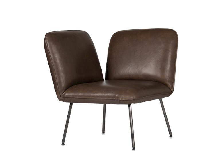 Leather easy chair SHUFFLE | Easy chair by Jess Design