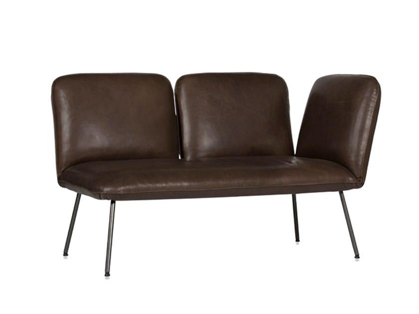 Leather small sofa SHUFFLE | Small sofa by Jess Design
