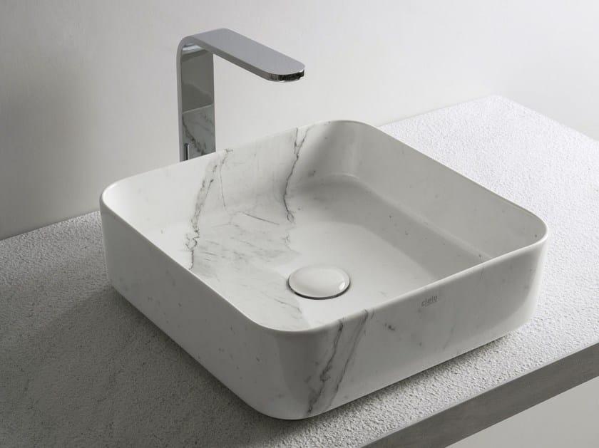 SHUI COMFORT | Lavabo quadrato finitura LE PIETRE - Carrara